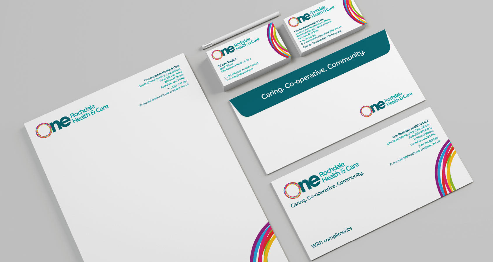 One Rochdale Health & Care Branding